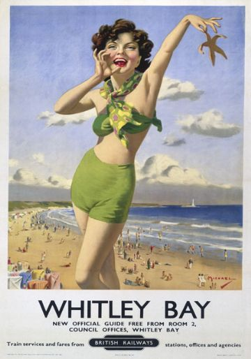 Whitley Bay, Tyne & Wear. British Railways Vintage Travel Poster by Arthur C Michael